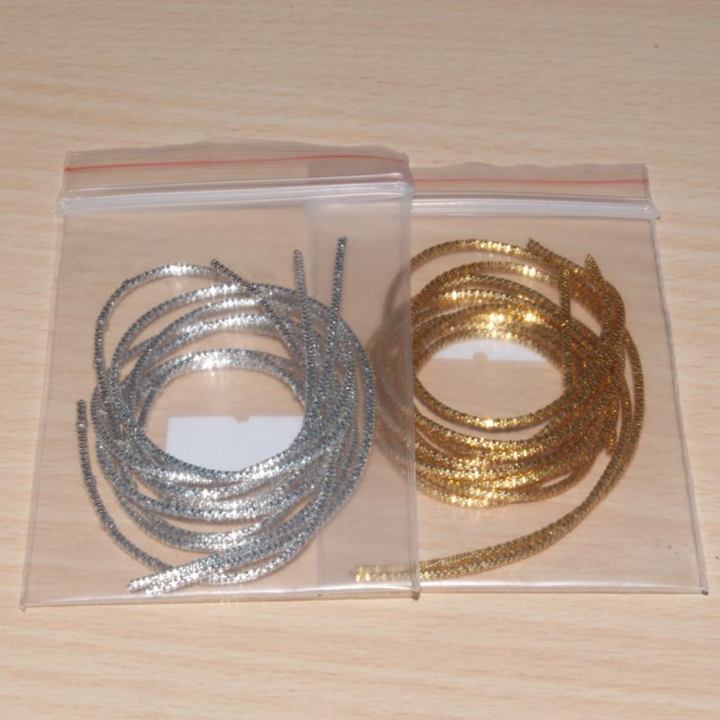 Канитель фигурная (трунцал) цвета «золото» и «серебро»