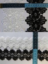 Кружево плетеное черное и белое купить в Новосибирске