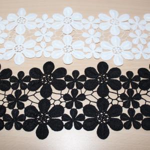 Кружево плетеное черное и белое купить недорого в Новосибирске
